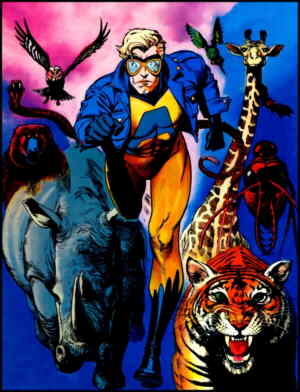 Animal man and some of his animals. Artist: Brian Bolland.