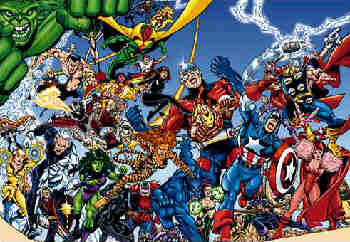 A few of the characters who have been members of The Avengers over the years.