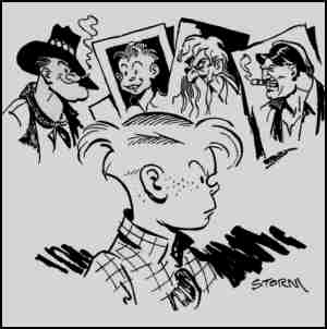 Promotional drawing of Bobby and some supporting characters. Artist: George Storm.