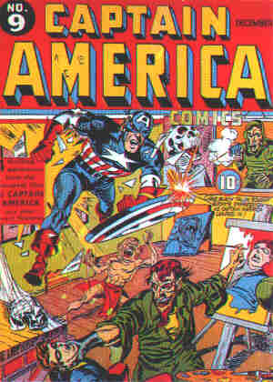 Captain America Comics no. 9. Artists: Joe Simon and Jack Kirby.