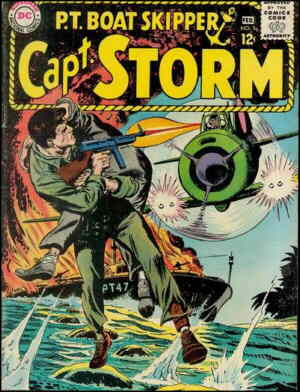 Captain Storm in action. Artist: Irv Novick.