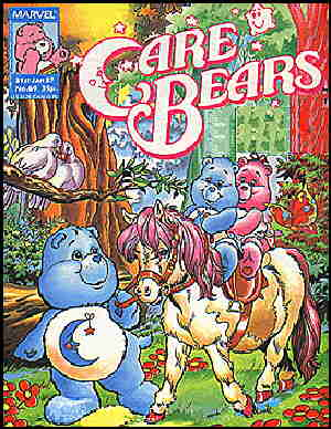 Care Bears: From the cover of a British Marvel comic book.