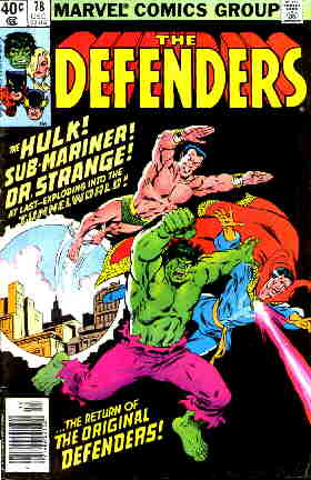 Founding members of The Defenders.