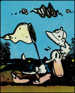 Dirty Duck, from the cover of his 1971 comic book. Artist: Bobbie London.