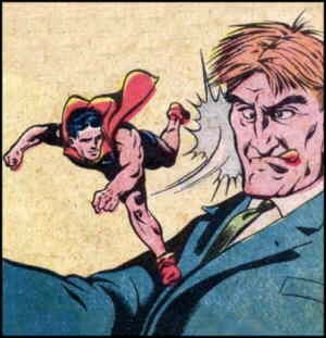 Doll Man socks it to crime. Artist: Reed Crandall.