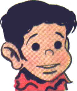 Dondi, from the Sunday strip's logo. Artist: Irwin Hasen.