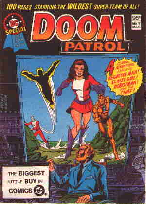The Doom Patrol as seen on the cover of a late 1970s reprint.