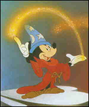 Fantasia's only 'name' star, Mickey Mouse.