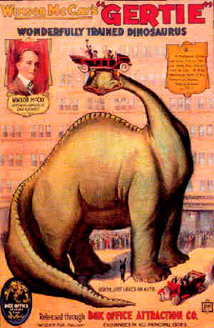 Poster advertising the theatrical release of Gertie the Dinosaur.