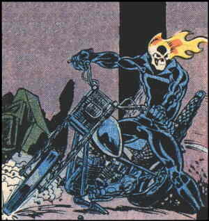 The Ghost Rider strikes a pose. Artist: Mike Ploog.