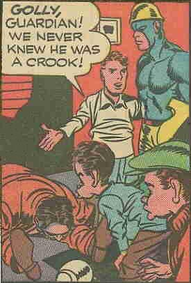 The Newsboy Legion and The Guardian. Artists: Joe Simon and Jack Kirby.