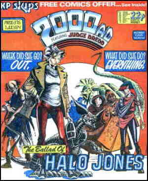 Cover of Halo's first appearance. Artist: Ian Gibson.