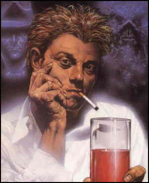 John Constantine (Hellblazer) looking typical. Artist: Glenn Fabry.