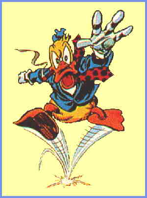 Waaugh! Howard the Duck bounds into action. Artist: Gene Colan.