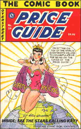 Katy on the cover of the 1984 Comic Book Price Guide. Artist: Bill Woggon.