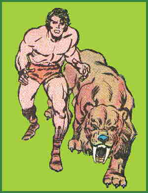Ka-Zar and Zabu. Artists: Jack Kirby and Chic Stone.