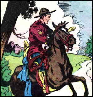 King of the Royal Mounted, from a Dell comic book.