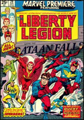 The Liberty Legion's first comic book cover.