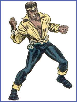 Luke Cage, shortly after becoming Hero for Hire. Artists: George Tuska and Billy Graham