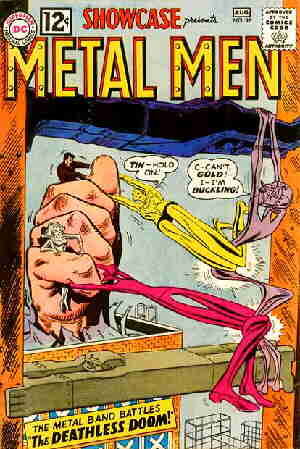 An early Metal Men cover. Artists: Ross Andru and Mike Esposito.