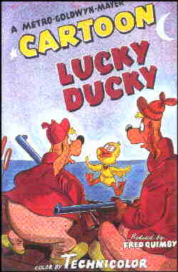 Poster for a typical MGM cartoon.