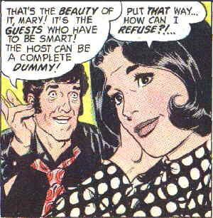 Mary is offered a part. Artist: Leonard Starr.