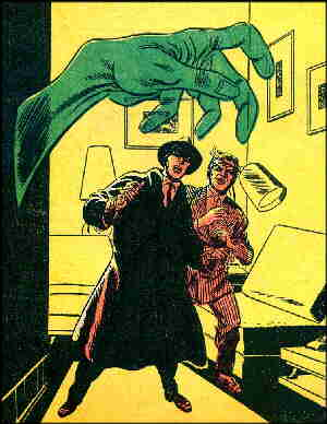 The Phantom Stranger confronts a typical menace. Artists: Carmine Infantino and Sy Barry.