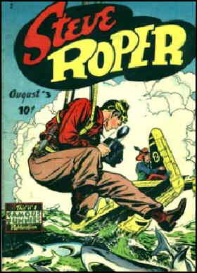 Cover of a Steve Roper comic book.