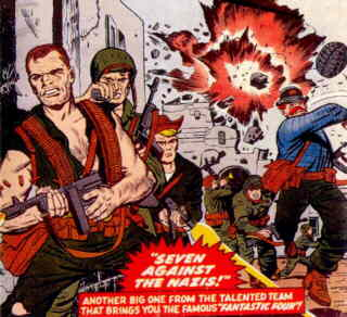 Sgt. Fury and the Howlers. Artist: Jack Kirby.