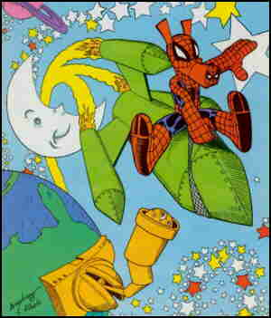 Spider-Ham, from a cover. Artists: Mark Armstrong and Joe Albelo.