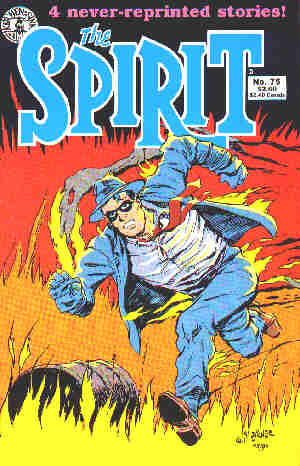 The Spirit: A 1991 comic book cover. Artist: Will Eisner.