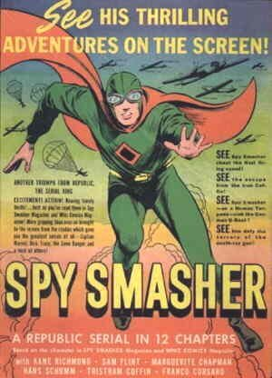 An ad for the Spy Smasher movie serial.
