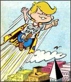 Super Brat on patrol. Artist: Harry Betancourt.