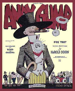 Andy Gump's 1923 sheet music. Artist: Sidney Smith.