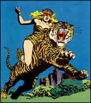 Tiger Girl and Kitten. Artist: Jack Sparling.