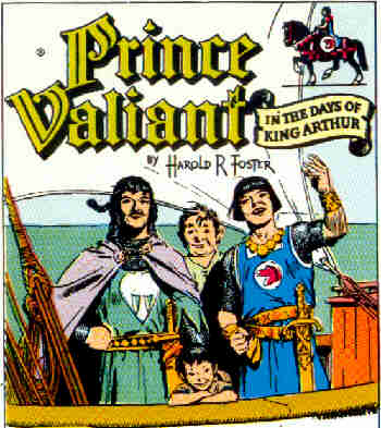 Prince Valiant and Sir Gawain, 1954. Artist: Hal Foster.