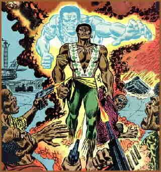 Brother Voodoo looking typically fearsome. Artist: John Romita Sr.