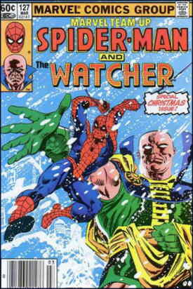 A rare cover appearance for The Watcher. Artists: Ed Hannigan and Al Milgrom.