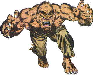 The old-style short-snout version of Marvel's Werewolf.