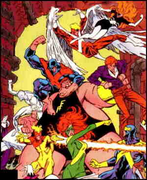 X-Factor, plus a few other super types. Artists: Marc Silvestri and Joe Rubinstein.