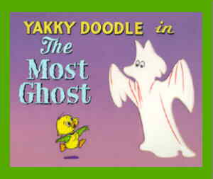 A Yakky Doodle title card. Yakky is the little one.